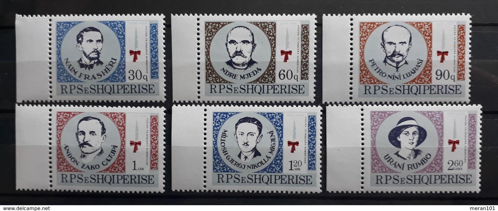 """Albanien 1986, Mi 2302-07 MNH Postfrisch """"Persönlichkeiten"""" - Albanien"""