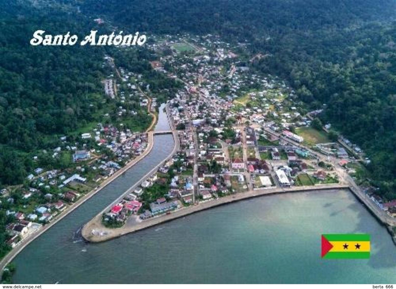 Principe Island Santo Antonio Aerial View Sao Tome And Principe New Postcard - Sao Tome And Principe