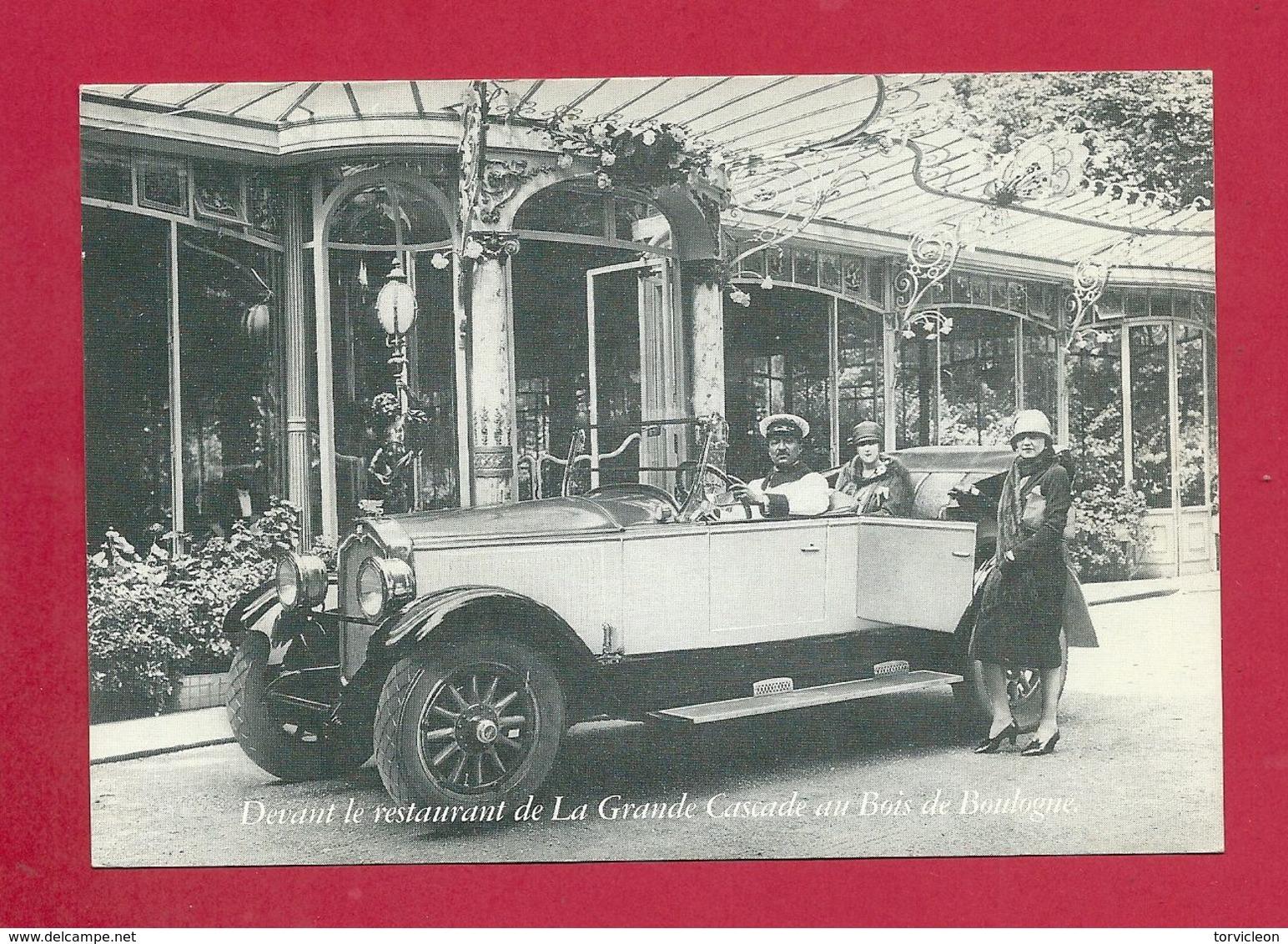 C.P. Bois De Boulogne  =  Devant  Le  Restaurant  De La GRANDE CASCADE - Cafés, Hôtels, Restaurants