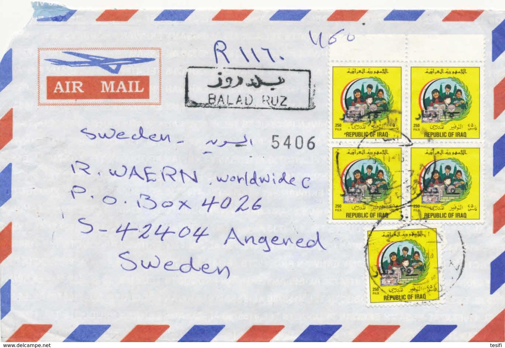 Iraq 1996 R-cover To Finland - Iraq