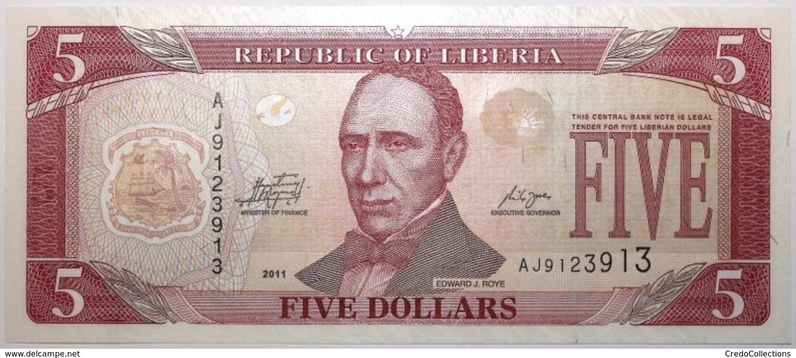 Liberia - 5 Dollars - 2011 - PICK 26g - NEUF - Liberia
