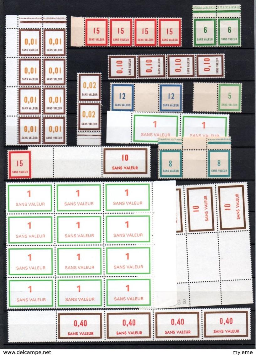 E260 Carton 15 Kgs Dont Bloc N° 1 ** Signé + Fictifs ** + Coins Datés...Voir Commentaires !!! - Lots & Kiloware (mixtures) - Min. 1000 Stamps