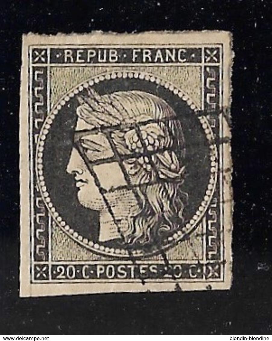 FRANCE YT 3 OBL B/TB - 1849-1850 Cérès