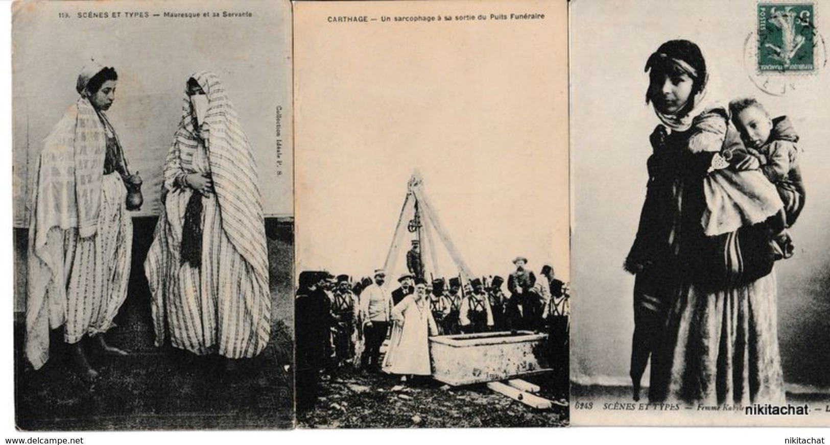 JOLI LOT 150 CARTES AFRIQUE DU NORD -Scènes Et Types,nus,paysages,villes,villages,évenements Du Maroc.... - Postcards
