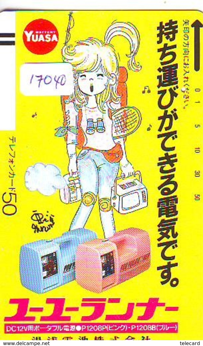 Télécarte Japon * 110-15052 * MANGA * YUASA * ANIME (17.040) Japan * TENNIS * FRONT BAR * Phonecard * Balken TK - MOVIC - BD
