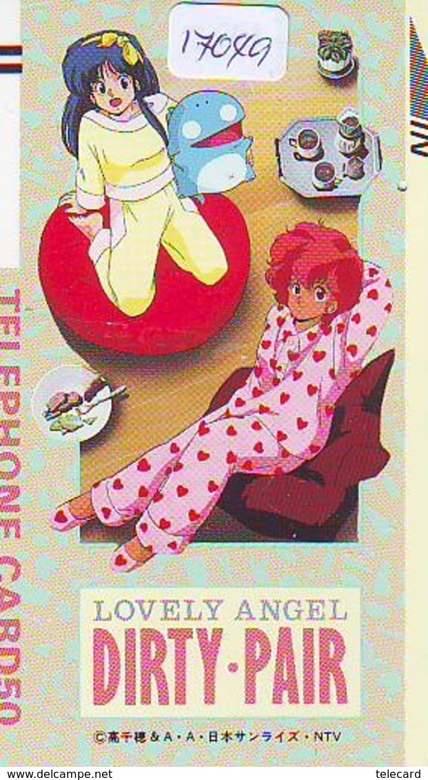 Télécarte Japon * 110-14713 * MANGA * DIRTY PAIR * ANIME Japan (17.049)  FRONT BAR * Phonecard * Balken Telefonkarte - BD