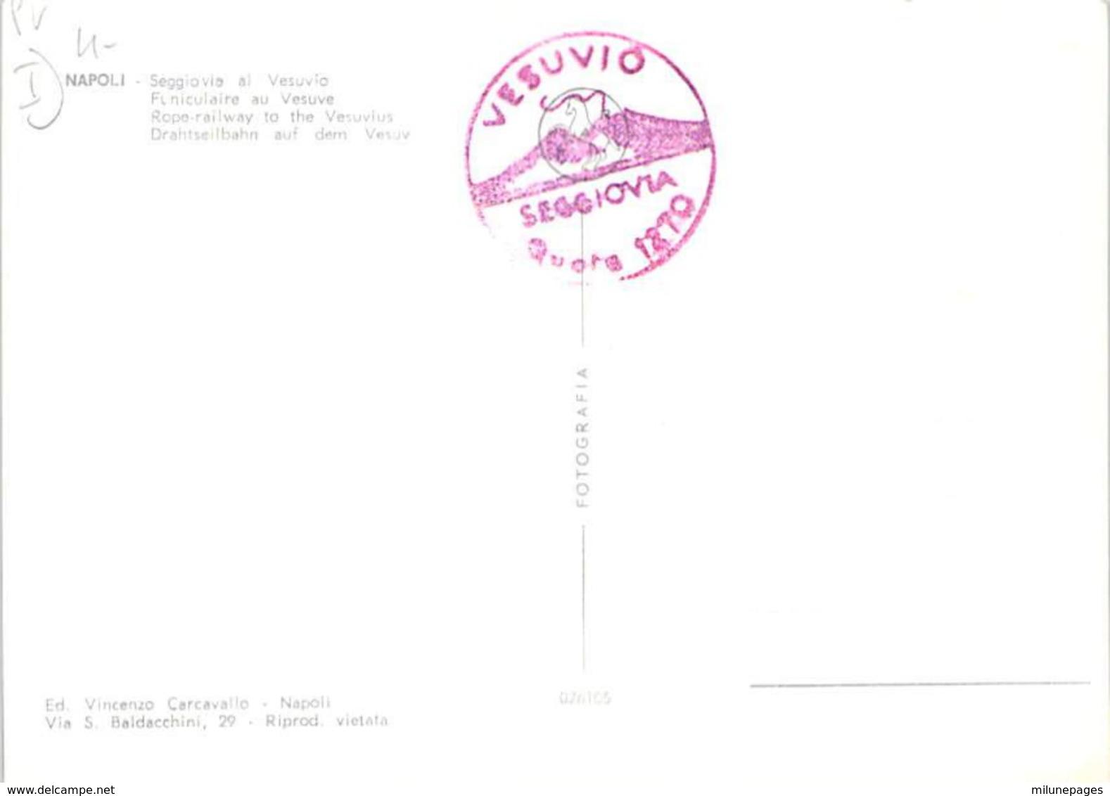 ITALIE ITALIA Seggiovia Al Vesuvio Funiculaire Téléphérique Du Vésuve - Napoli (Naples)