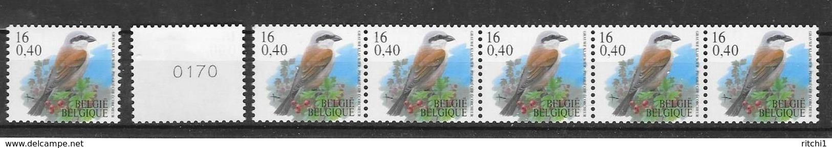 R 94,95a,96a  * *     Postfris Zonder Scharnier - Rouleaux