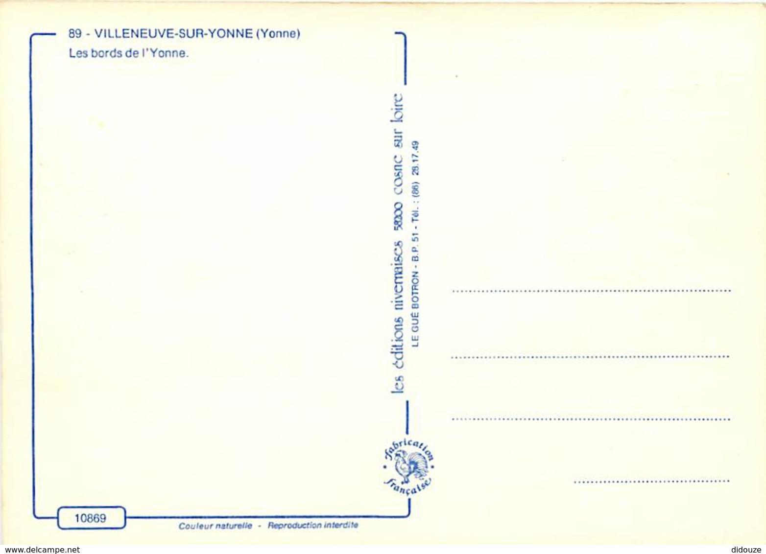 89 - Villeneuve Sur Yonne - Les Bords De L'Yonne - Voile - Carte Neuve - CPM - Voir Scans Recto-Verso - Villeneuve-sur-Yonne