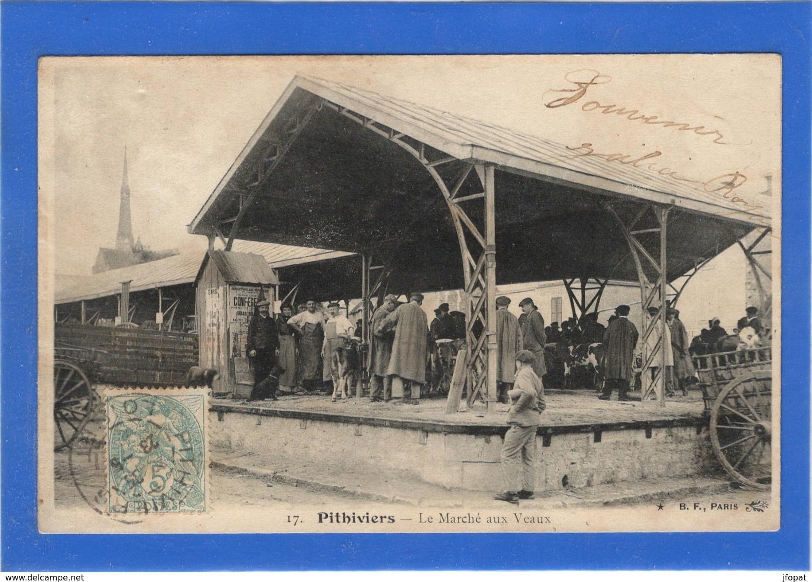 45 LOIRET -  PITHIVIERS Le Marché Aux Veaux - Pithiviers