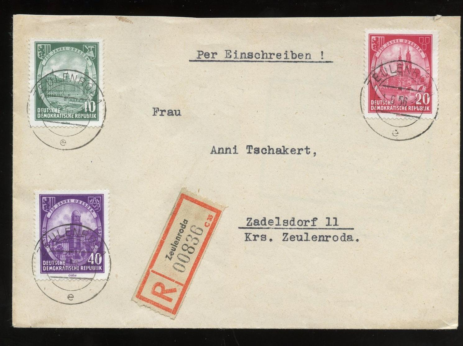 R-FDC ZEULENRODA > Zadelsdorf (581) - FDC: Briefe