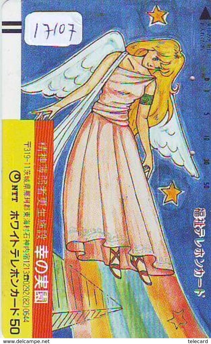 Télécarte Ancienne Japon *  110-011 * MANGA * Angel * Femme (17.107) ANIME Japan FRONT BAR  Phonecard * COMICS - BD