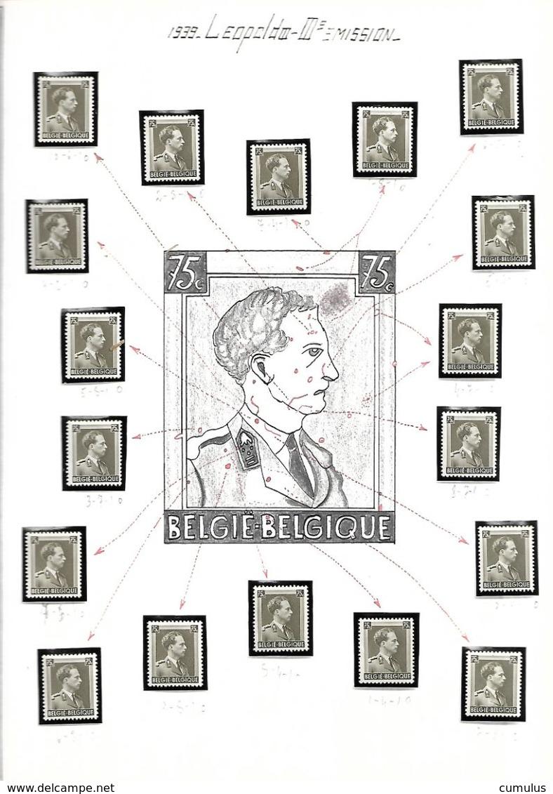 COB N° 480 Effigie De Léopold III 75 C Gris-olive Clair - Autres
