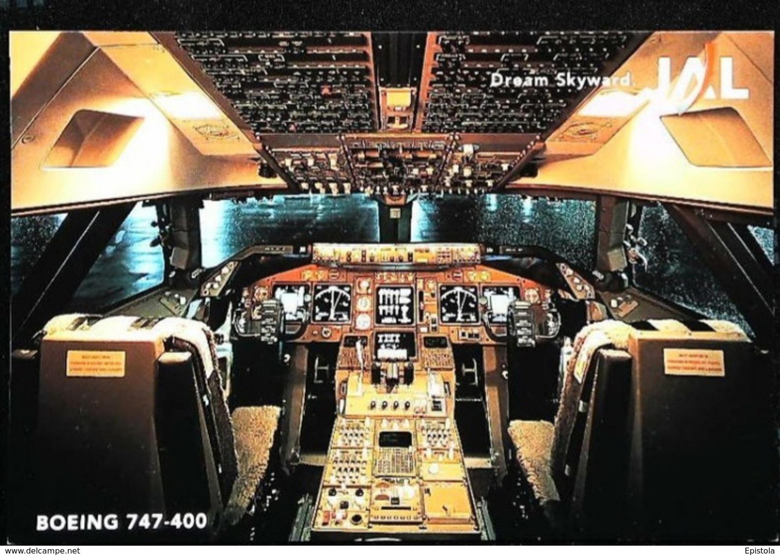 Intérieur COCKPIT - Boeing 737-400 - JAL Japon Airlines - Avionique (Avionics Avionica) - GPS/Radios