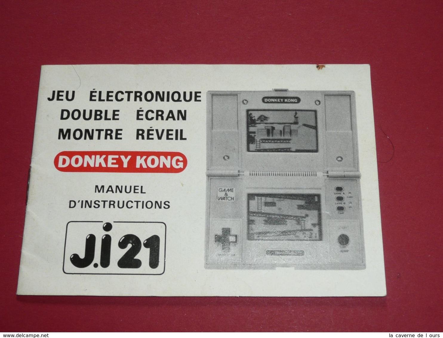 Rare Manuel D'instructions Vintage DONKEY KONG Jeu électronique Double Ecran Montre Réveil J.I 21 Nintendo - Jeux électroniques