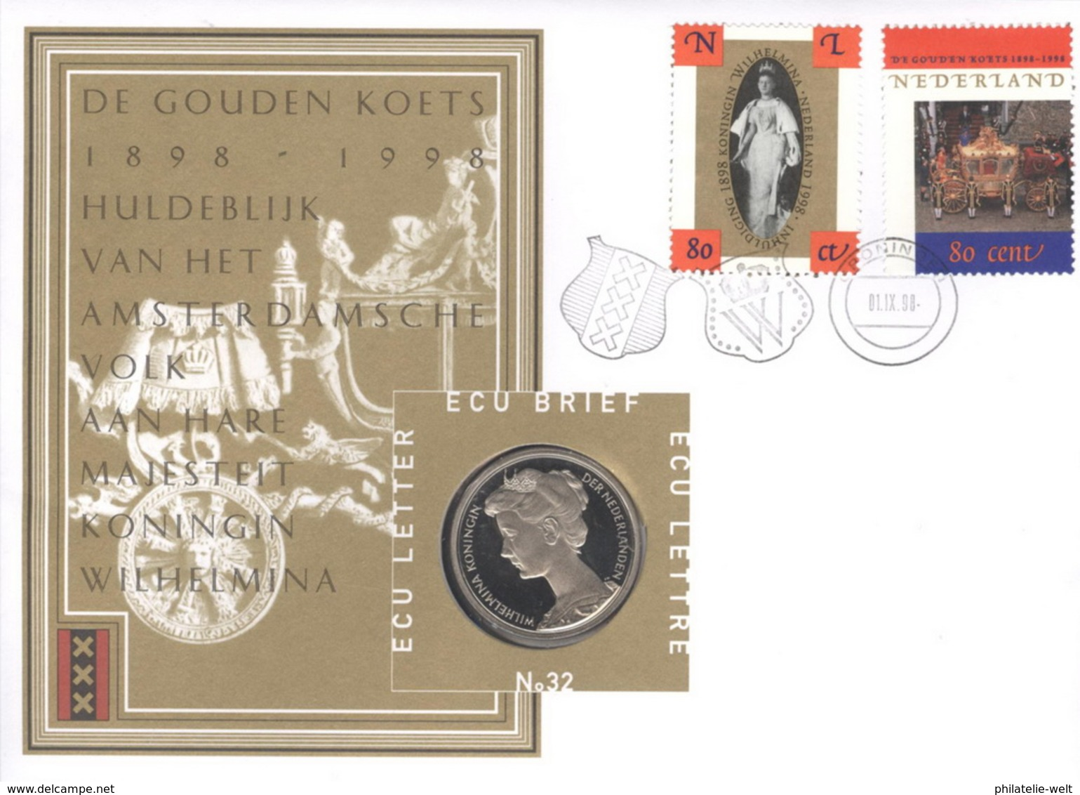 Niederlande Numisbrief ECU Nr. 32 - Niederlande