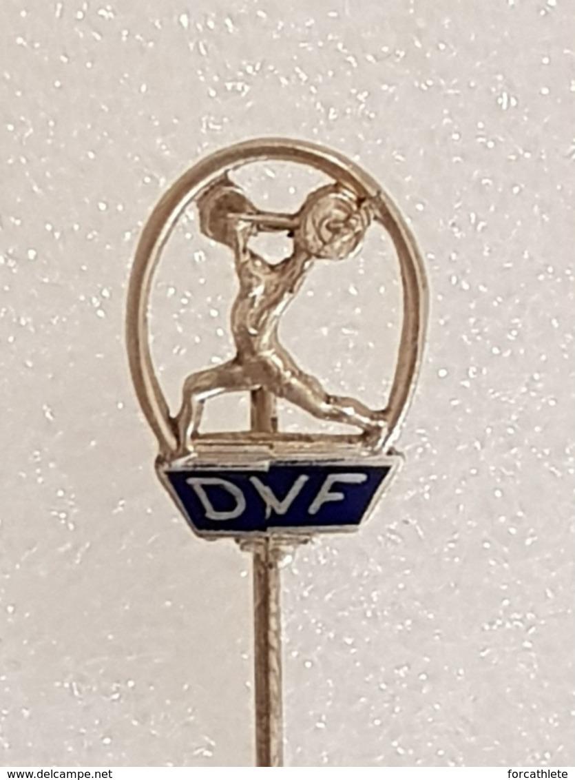 Epinglette Fédération Danoise D'haltérophilie - Pin Label Danish Weightlifting Federation - Gewichtheben - Pesistica