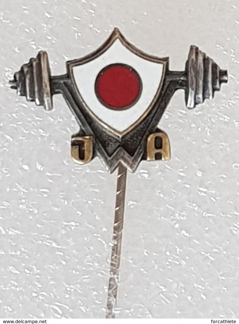 Epinglette Fédération Japonaise D'haltérophilie - Pin Label Japanese Weightlifting Federation - Gewichtheben - Pesistica