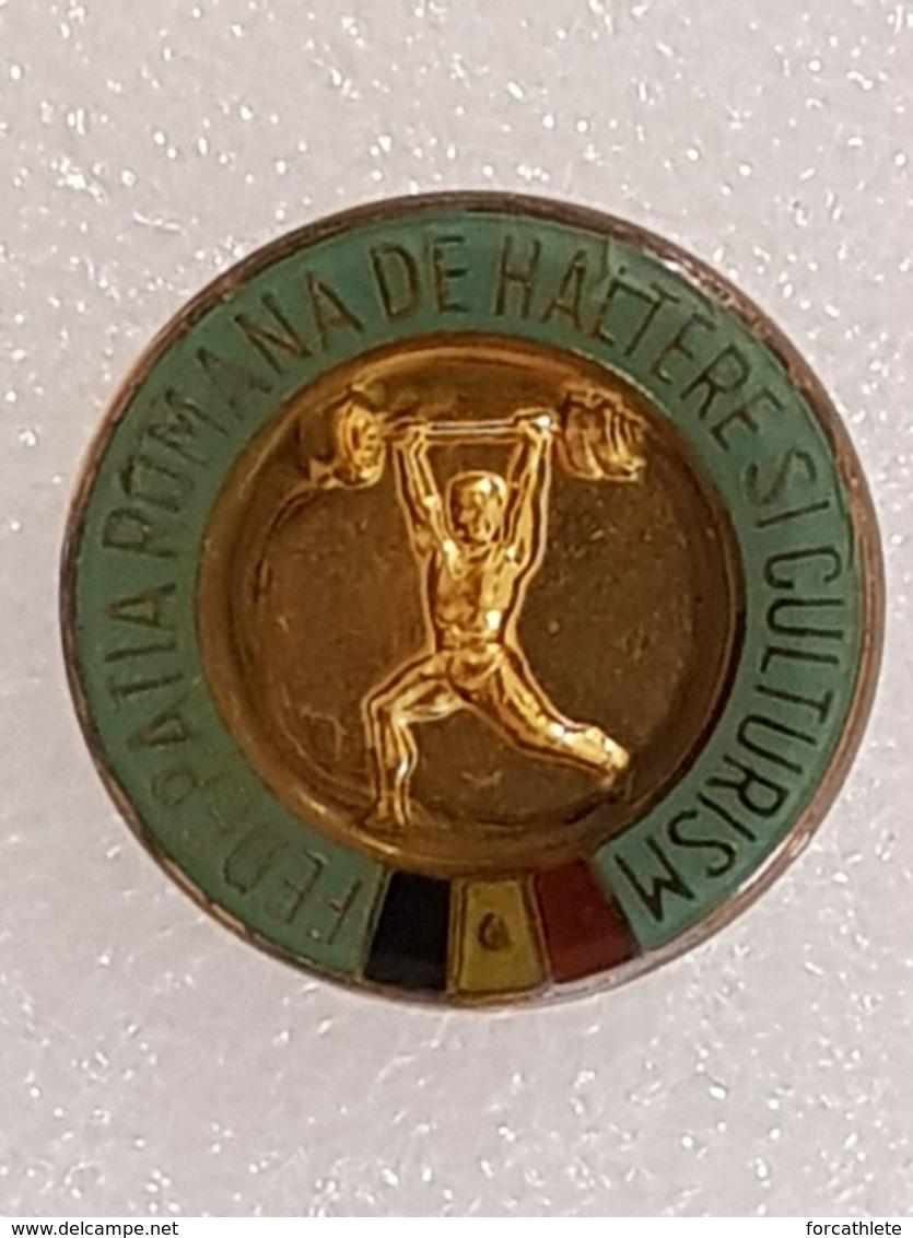 Badge Fédération Roumaine D'haltérophilie - Badge Romanian Weightlifting Federation - Gewichtheben - Pesistica