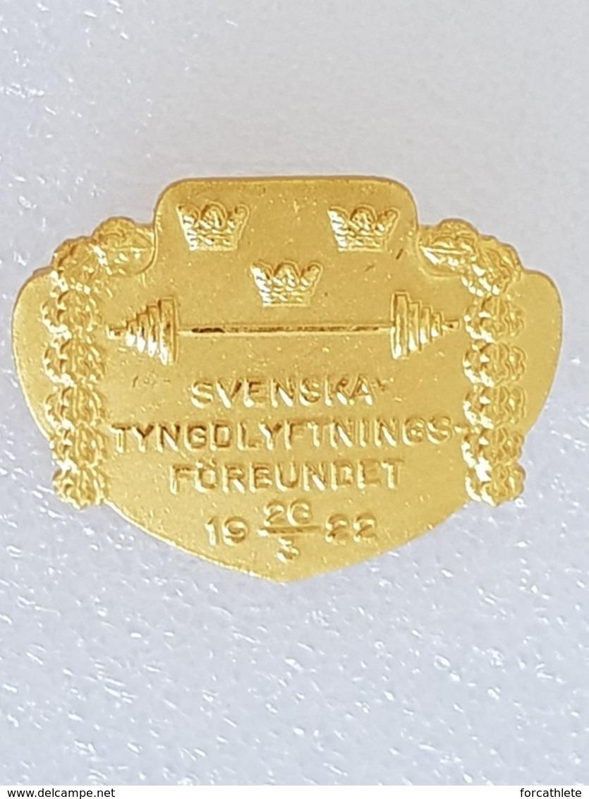 Badge Fédération Suédoise D'haltérophilie - Badge Swedish Weightlifting Federation - Gewichtheben - Pesistica