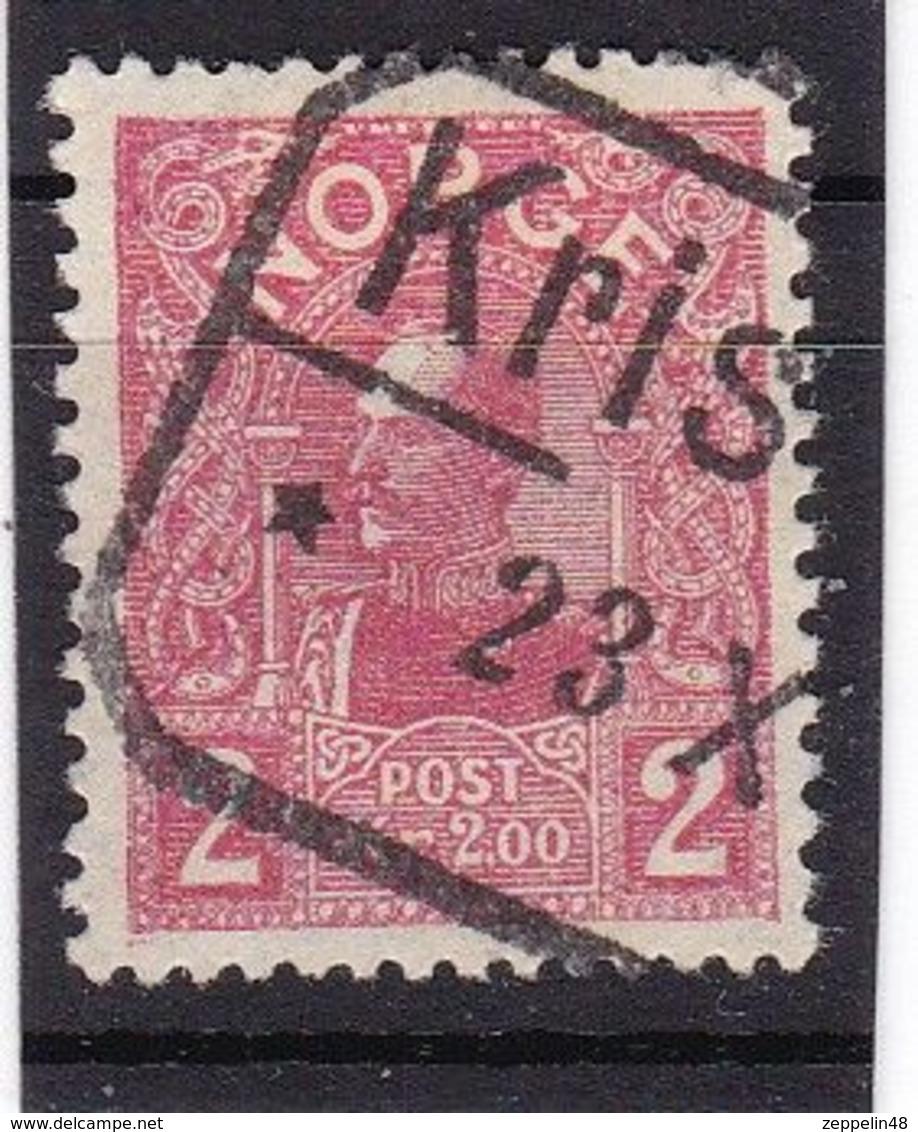 #12162 Norway, Norge 1909/1910, Stamp 2 Kr. Used, Michel 74: King Haakon VII. - Used Stamps