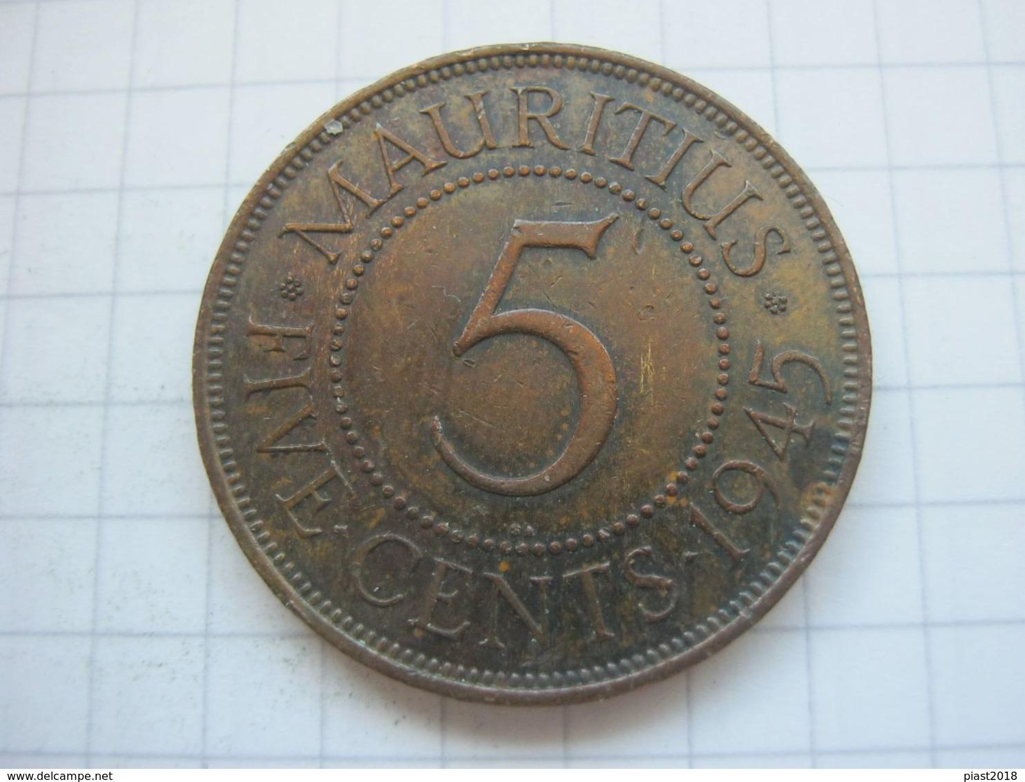 Mauritius , 5 Cents 1945 - Maurice