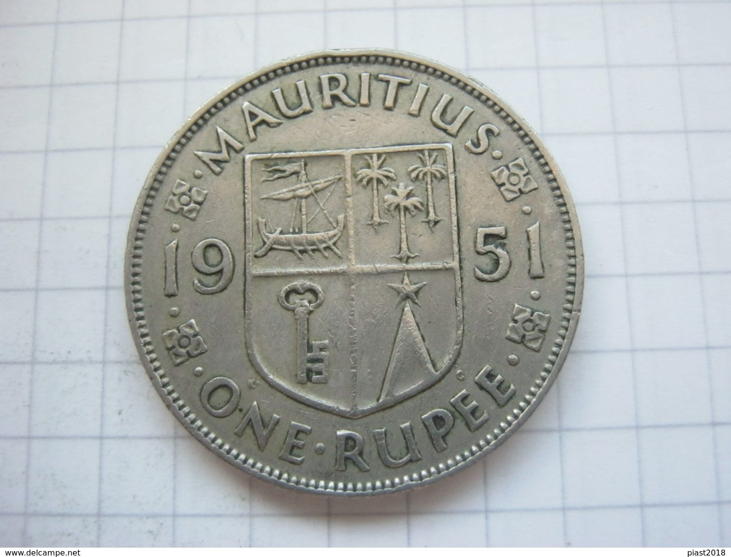 Mauritius , 1 Rupee 1951 - Maurice