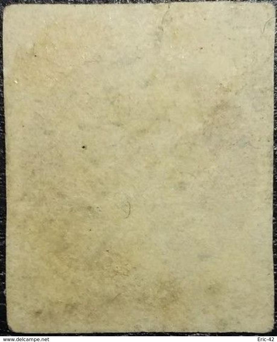 FRANCE Y&T N°17Ac Napoléon 80c Carmin Foncé Sur Paille. Oblitéré Losange PC. N°1759 Lons-le-Saunier - 1853-1860 Napoleon III