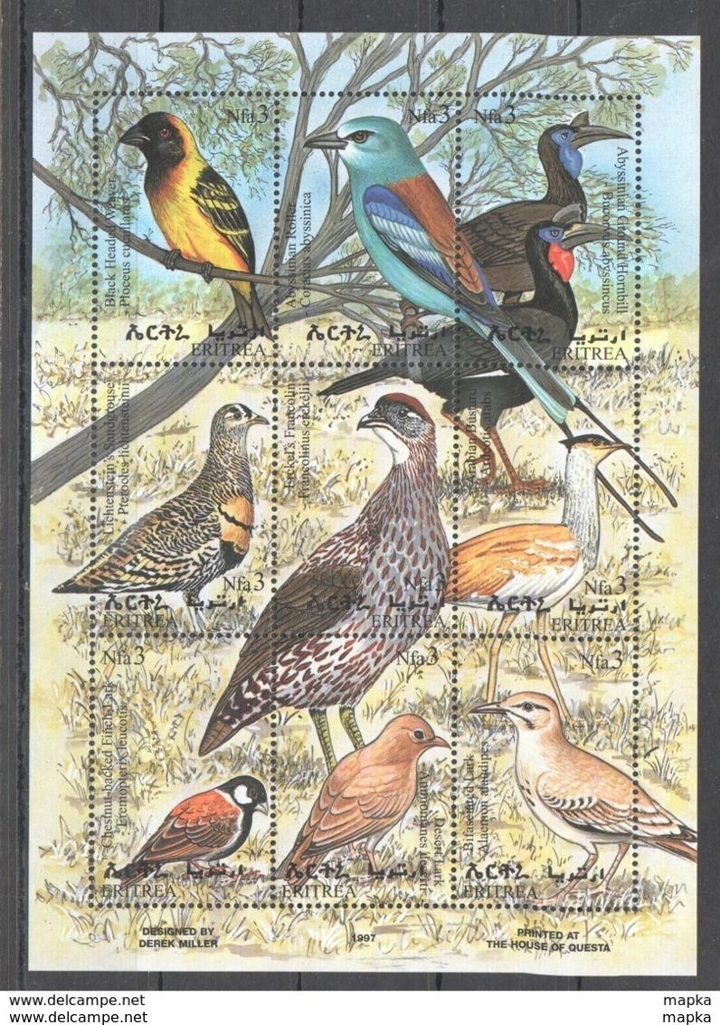 PK121 1997 ERITREA FAUNA BIRDS KB MNH STAMPS - Altri