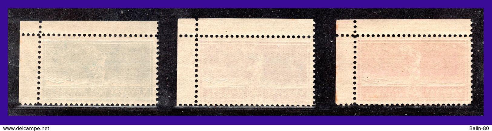 1924 - Uruguay - Scott Nº 282 / 284 - MNH - Gran Lujo - Esquina De Pliego - Borde De Hoja - UR- 40 - Uruguay