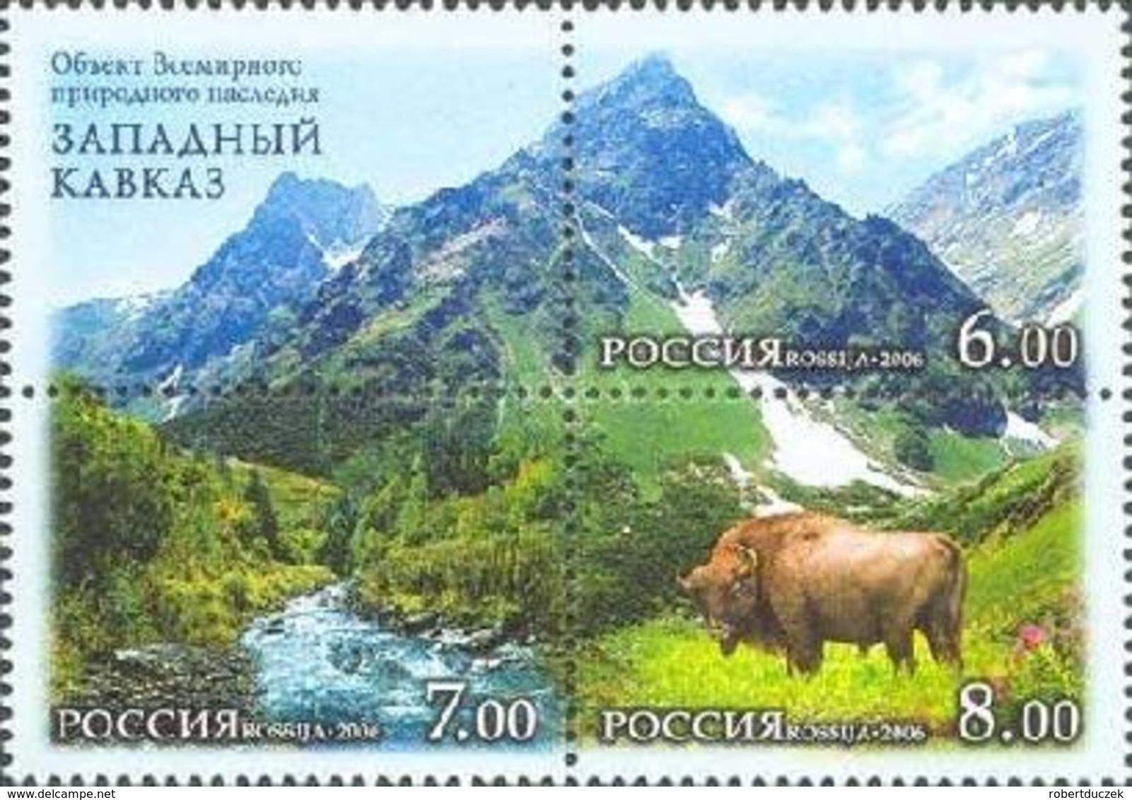Russia. Rossija. 2006 The World Nature Heritage In Russia - West Caucasus. Fauna. Landscapes. Mi 1379-81. MNH** - Nuevos