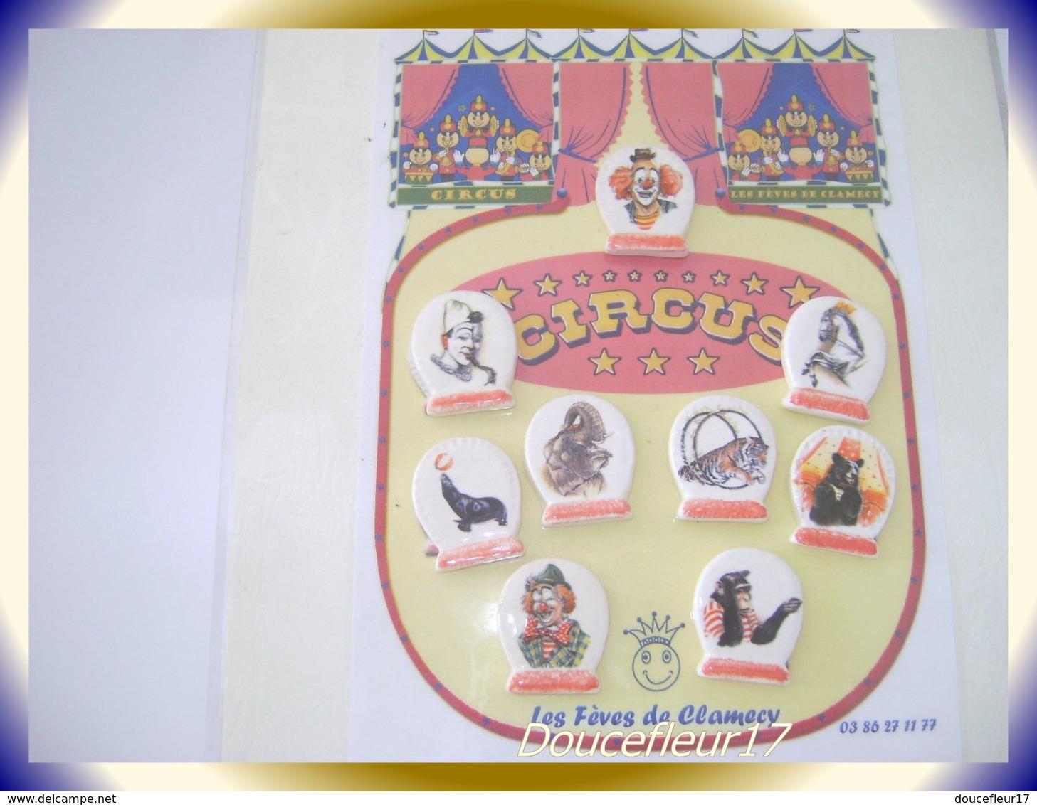Clamecy .. Circus Socle...Série Complète ... Ref AFF : 62-2005 ... (Tiroir 2005) - Anciennes