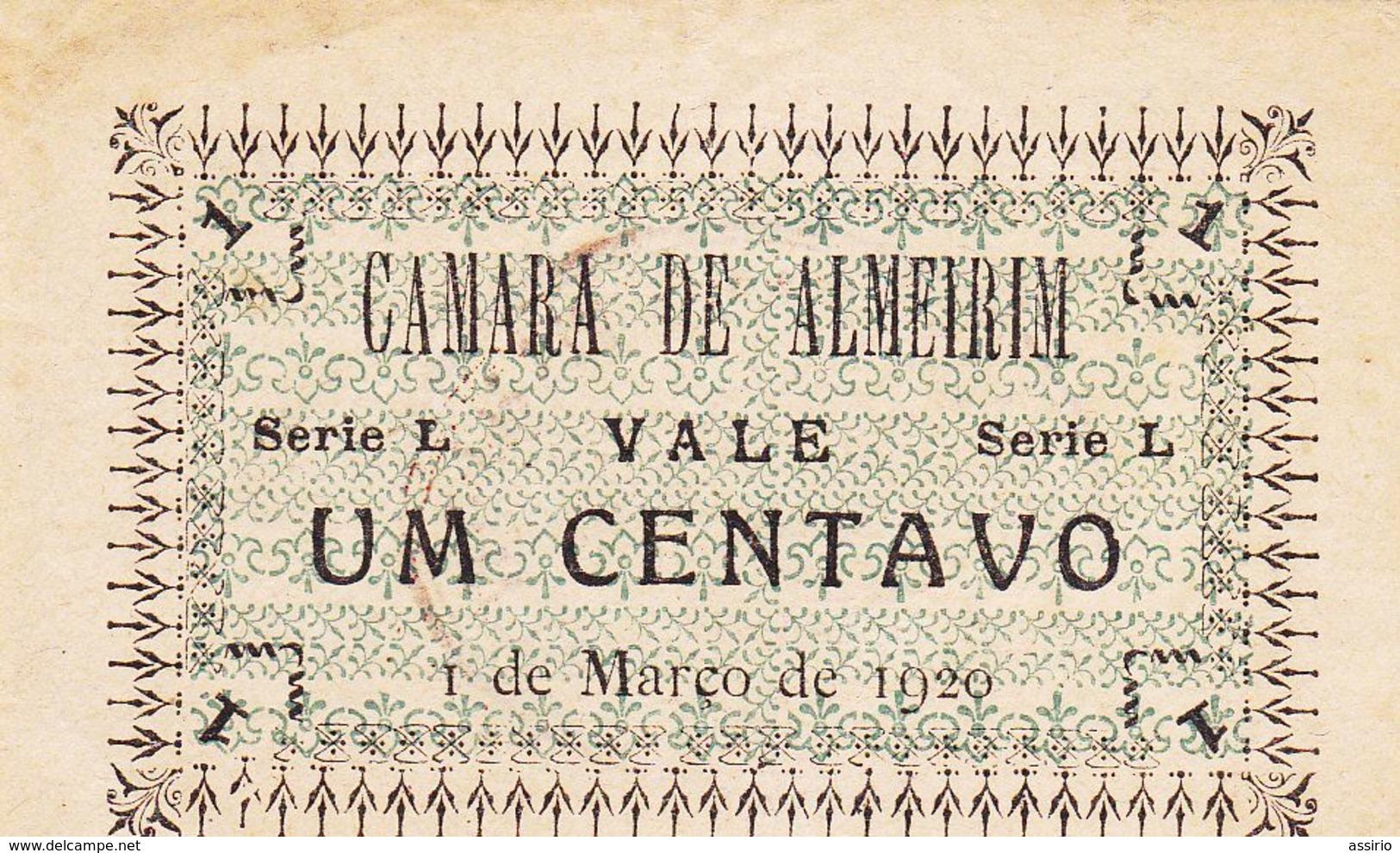 Portugal  -Cédula De Almeirim Nº 171 A  Serie L - Portugal
