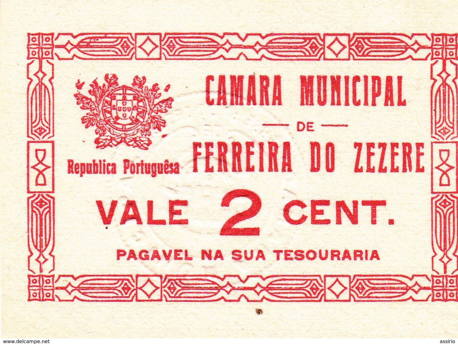 Portugal  -Cédula De Ferreira Do Zezere Nº 913     2 Ctvs - Portugal