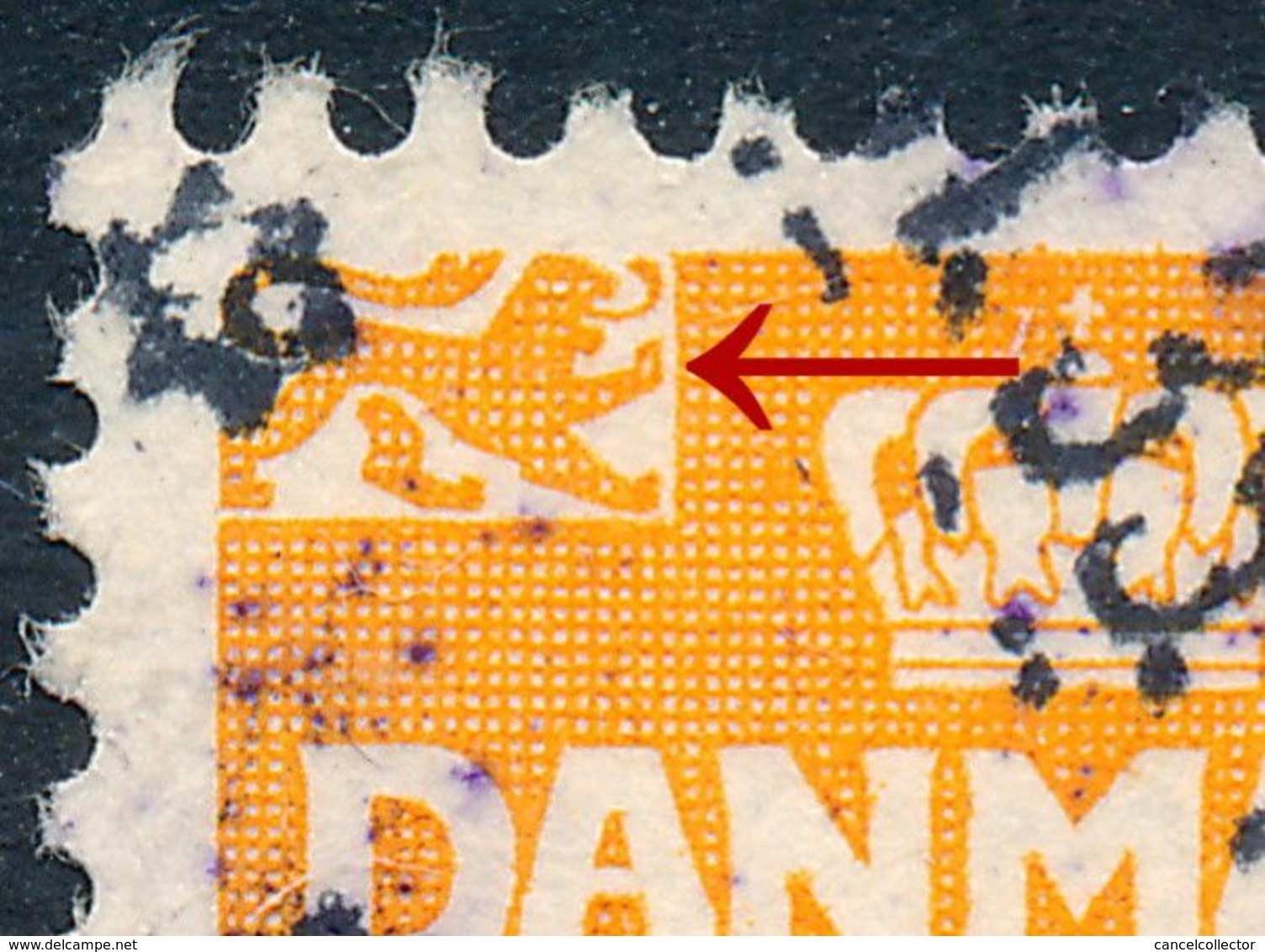 Denmark Danemark Danmark 1933: 10ø Orange Wavy Lines, Difficult Type I, AFA 202a (DCDK00257) - Gebraucht
