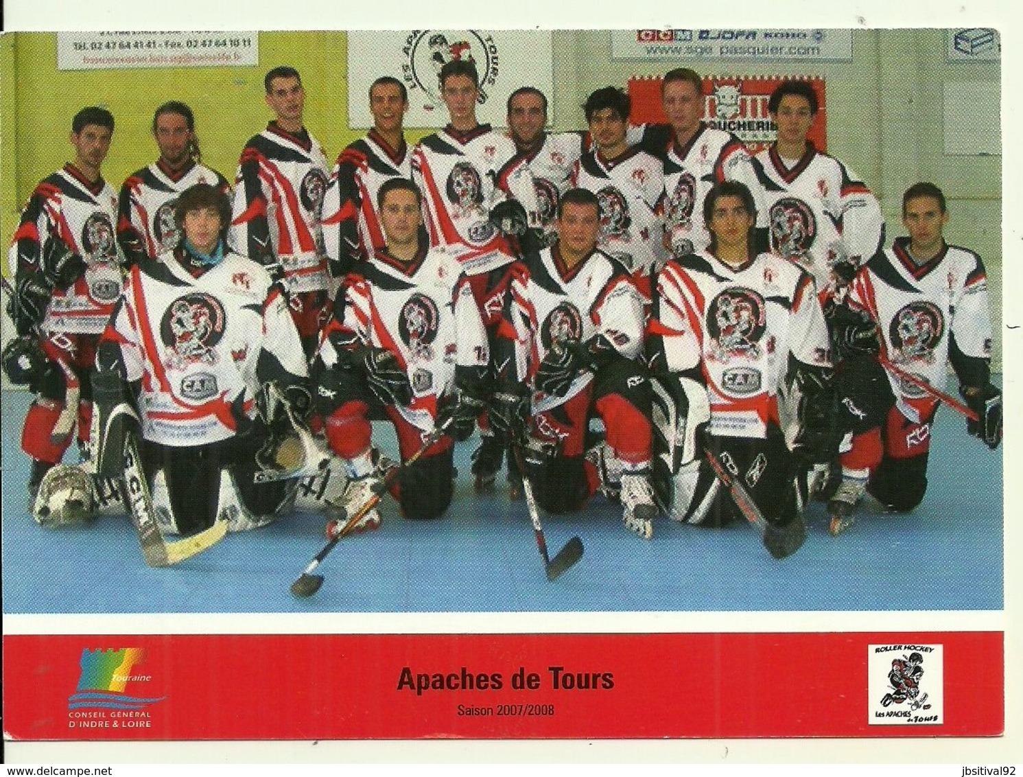 SPORTS Apaches De Tours Hockey Sur Glace Saisons 2007 / 2008 Guilhem BRUEL Moreau Trouillebout Paître Paul Laurent Bruel - Deportes De Invierno