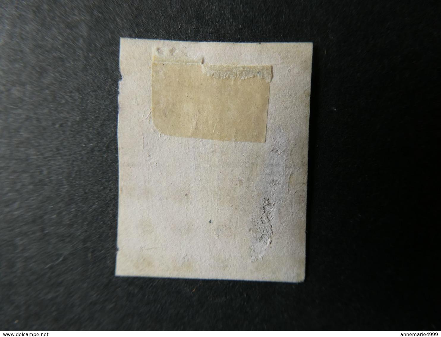 FRANCE  1 Franc Carmin Napoléon III N°18 , Deuxième Choix Avec Petits Défauts Voir Scans - 1853-1860 Napoléon III