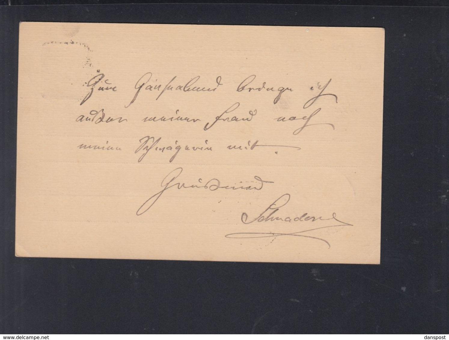 Dt. Reich GSK 1887 Hamburg Borgfelde - Deutschland