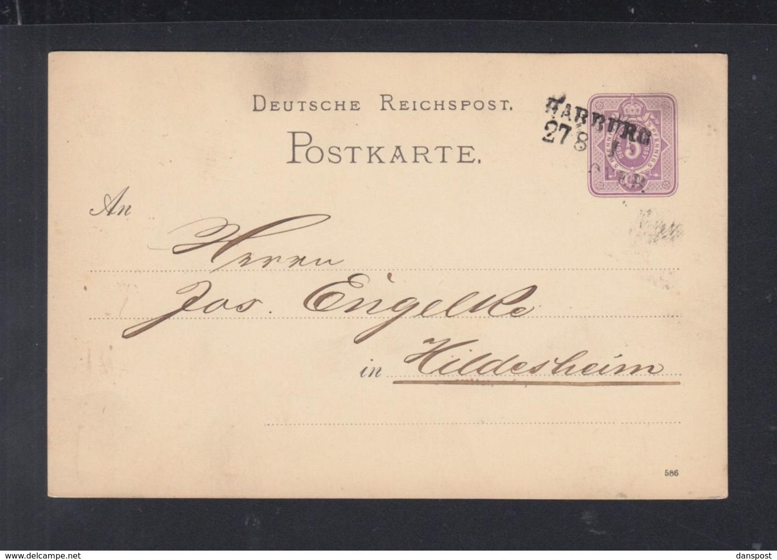 Dt. Reich GSK 1886 Harburg Nach Hildesheim - Deutschland