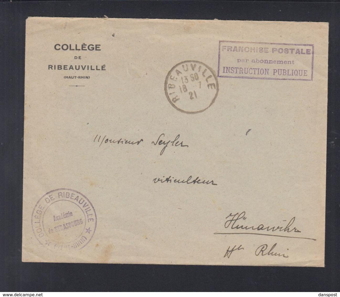Frankreich France Brief Francise Postale Instruction Publique - Briefe U. Dokumente