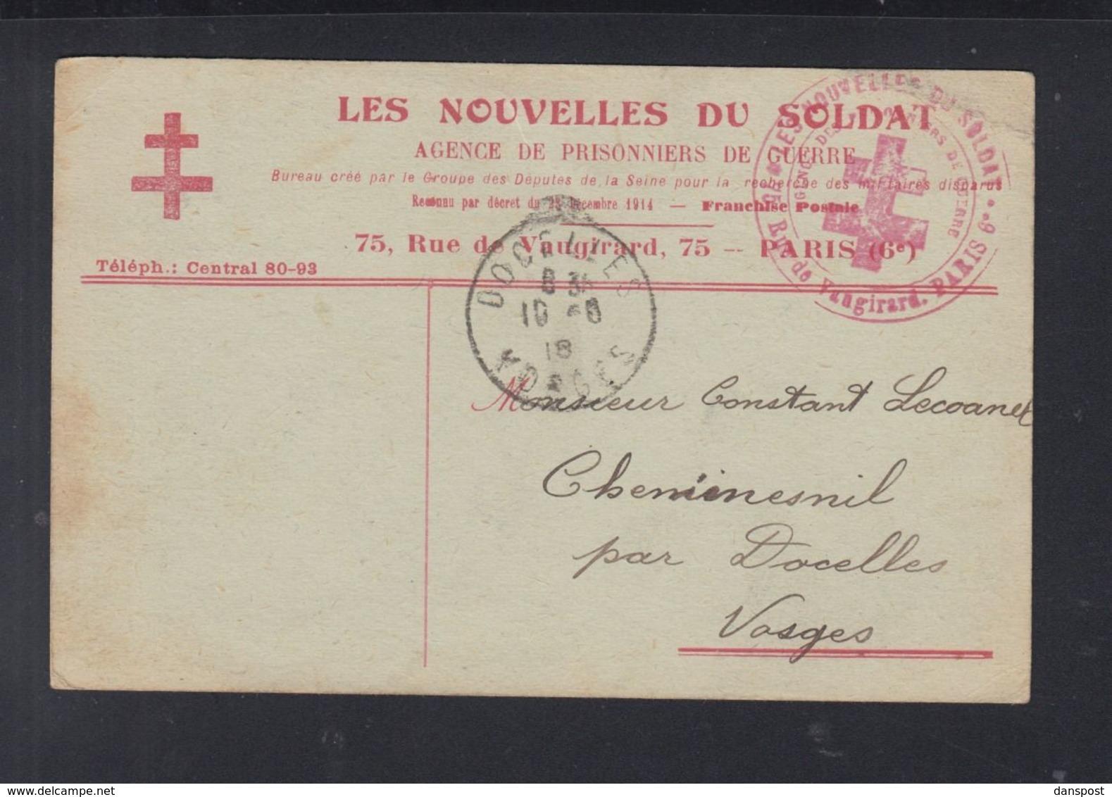 Frankreich France PK Les Nouvelles Du Soldat 1918 (2) - Frankreich