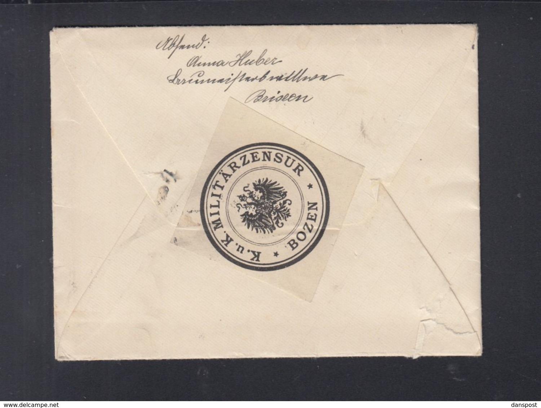 KuK Brief 1915 Zensur Bozen Mit Inhalt - 1850-1918 Imperium