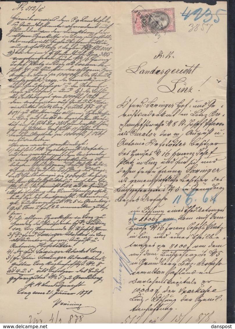 Österreich Dokument Linz - 1850-1918 Imperium