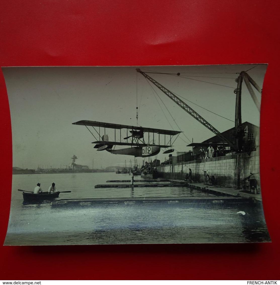 PHOTO AVION HYDRAVION MILITARIA LIEU A IDENTIFIER - Aviation