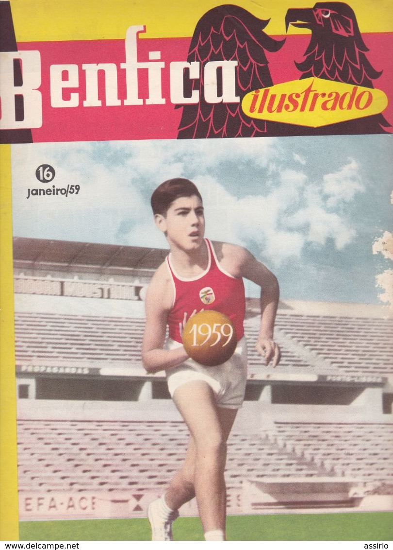 Portugal  5 Revistas Benfica Ilustrado  Nºs 15 Ao 19 - Documentos Históricos