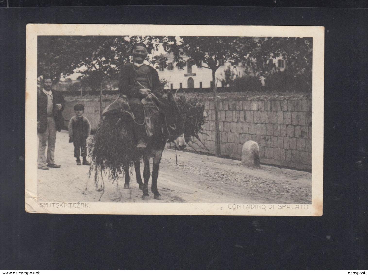 Kroatien Croatia AK Contadino Di Spalato Split 1912 - Kroatien