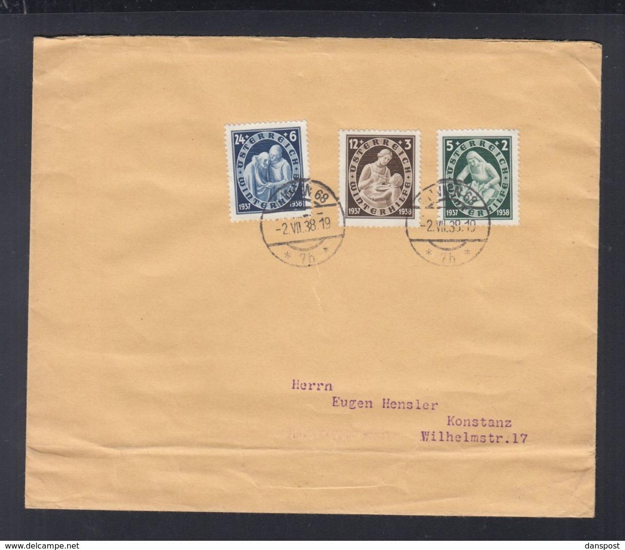 Österreich Brief 1938 Wien Nach Konstanz - 1918-1945 1. Republik