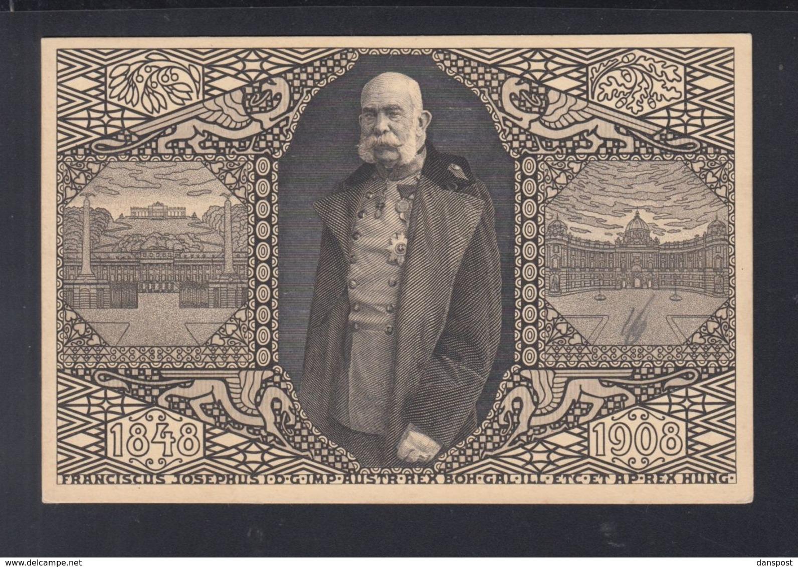 Österreich Bild-PK Sonderstempel Laibach 1908 - 1850-1918 Imperium
