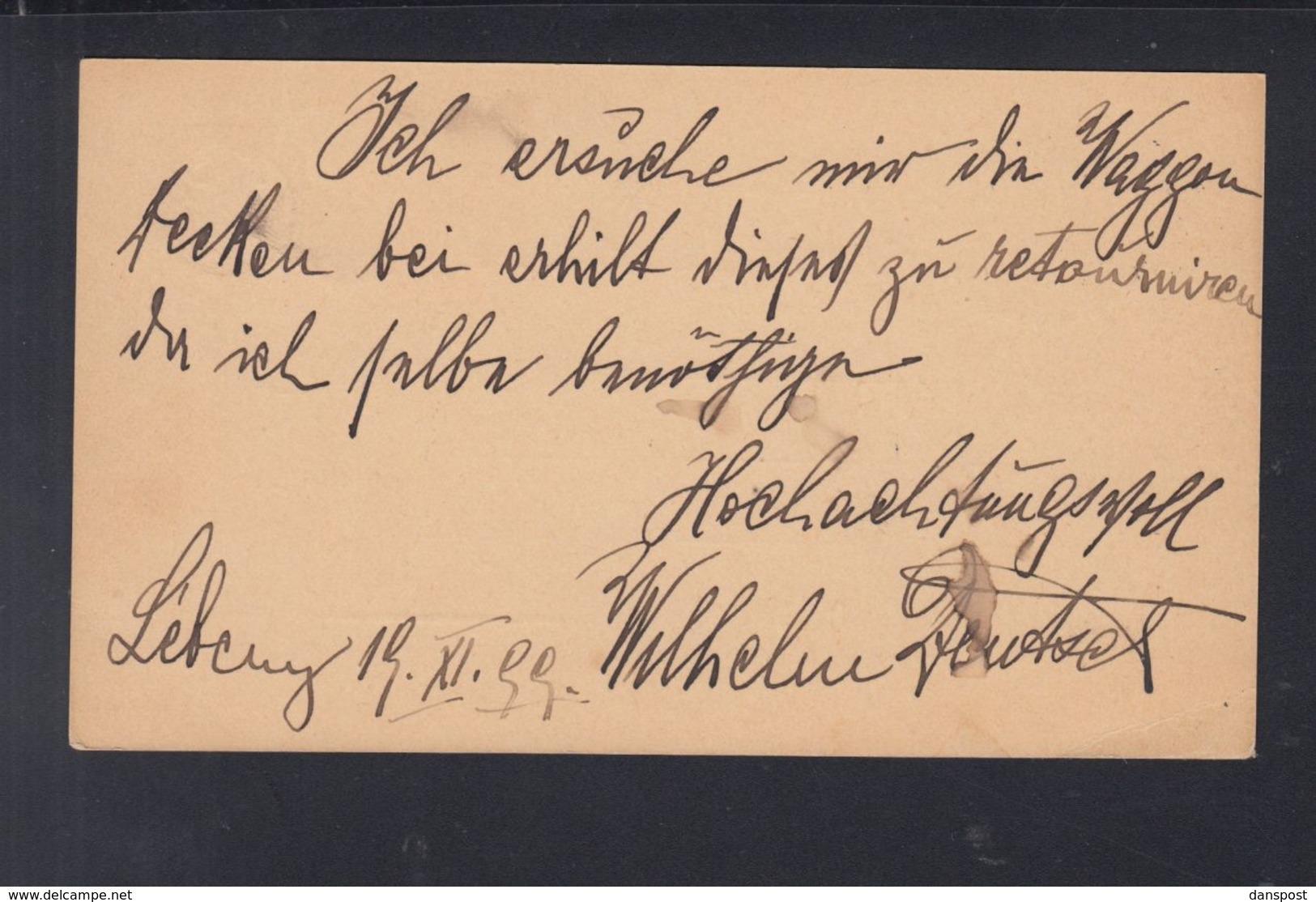 Ungarn Hungary GSK 1899 Lébény Nach Sopron - Briefe U. Dokumente