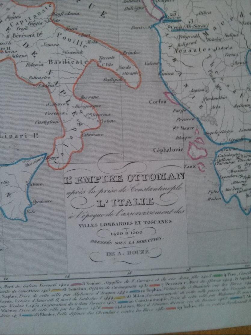L'Empire Ottoman Après La Prise De Constantinople, L'Italie à L'Époque De L'asservissement Des Villes Lombardes - Mapas Geográficas